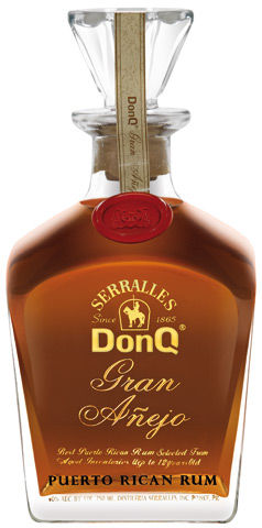 Don Q Gran Añejo: Shows an amber hue, with a medicinal nose of dried herbs. Toffee, and caramel flavors seduce the palate though the finish is dry and offers bacon fat and a long, saline, almost sherry-like, finish.