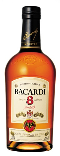 Bacardi 8: Aromas of candied apples play nicely with mild sweet spice and brown sugar. The flavor profile is dry with hints of sweetness here and there that deepen the flavor of dark brown sugar and spice. It is silky in the mouth, all the way through to the lightly smoky finish.